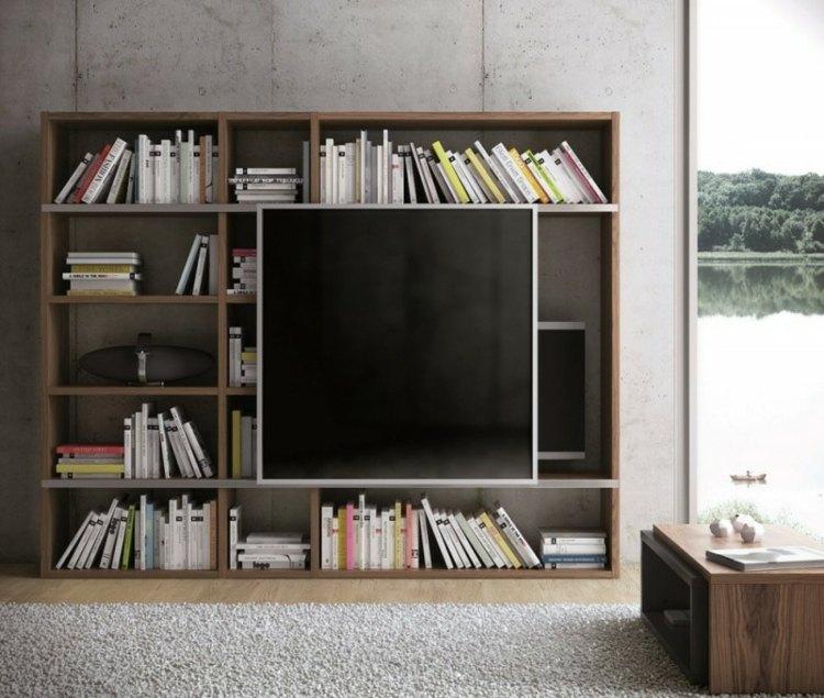 estupenda biblioteca moderna tv