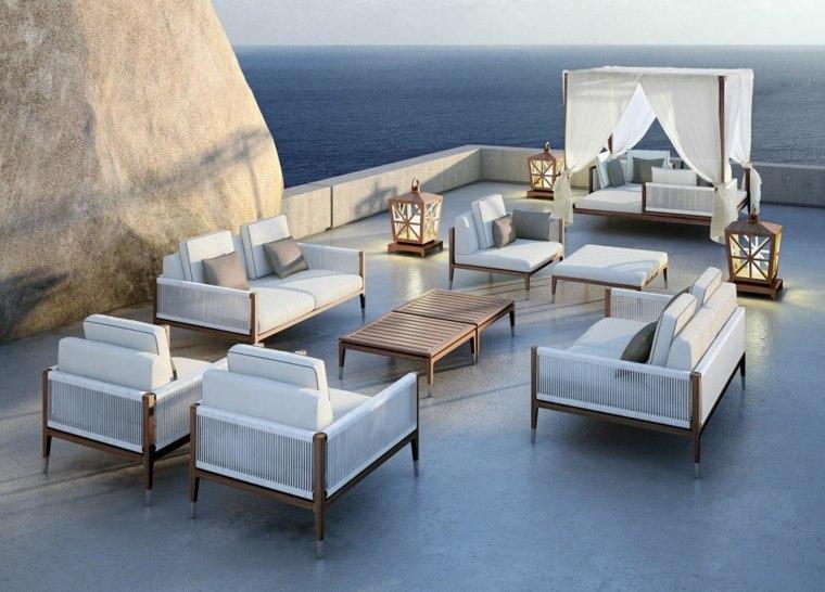 estupendo diseño sofas jardin