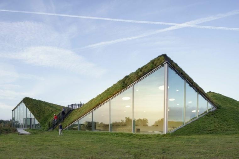 estupenda arquitectura moderna cubiertas vegetales