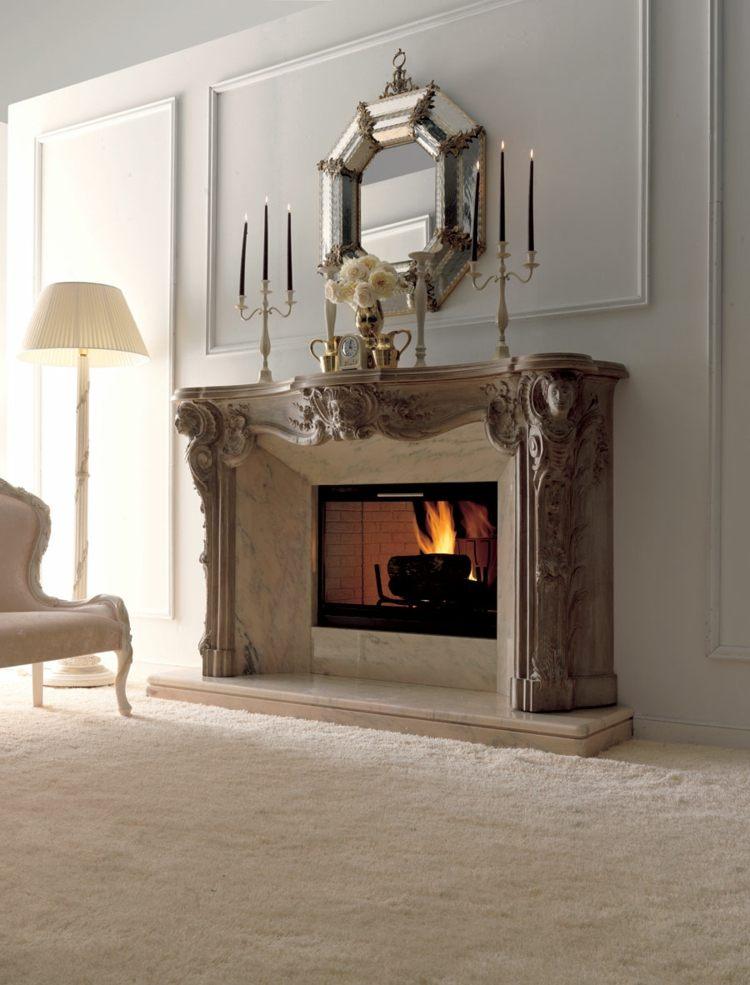 estupenda chimenea leña vintage