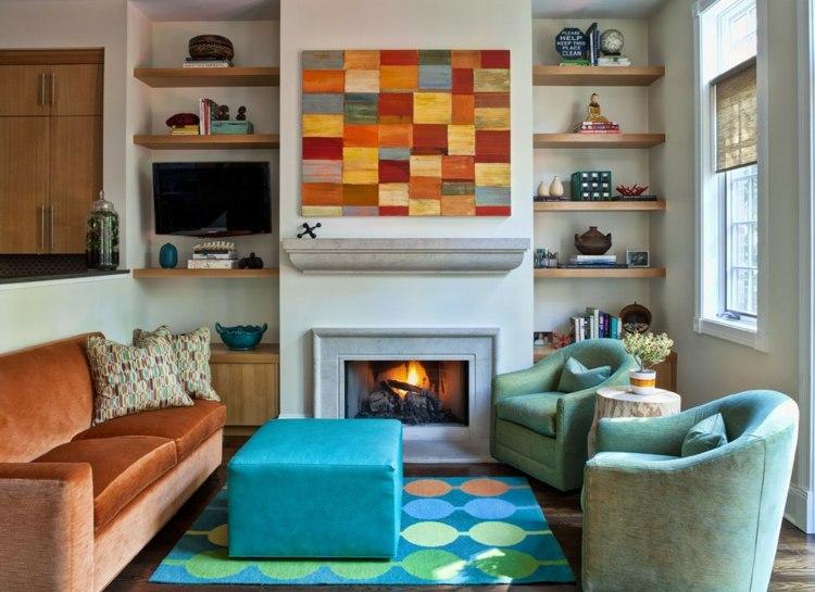 Decoraci n de salones modernos muebles y accesorios for Accesorios para salas pequenas