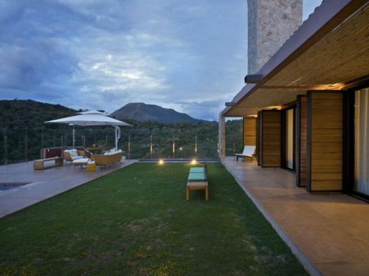 estupenda terraza moderna porche
