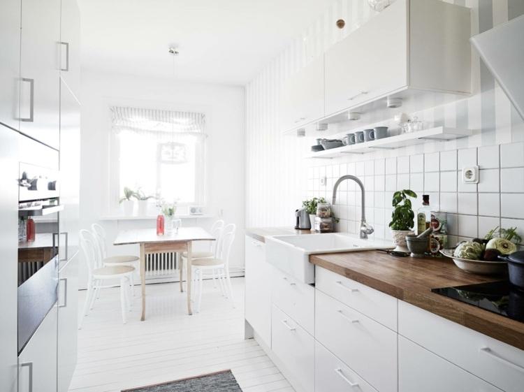estupenda cocina blanca pequeña moderna