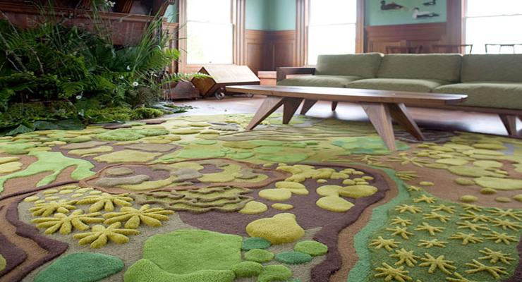 alfombra diseño moderno verde