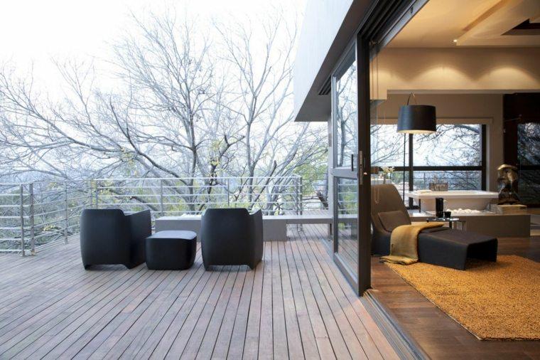 estupendo diseño terraza porche moderno