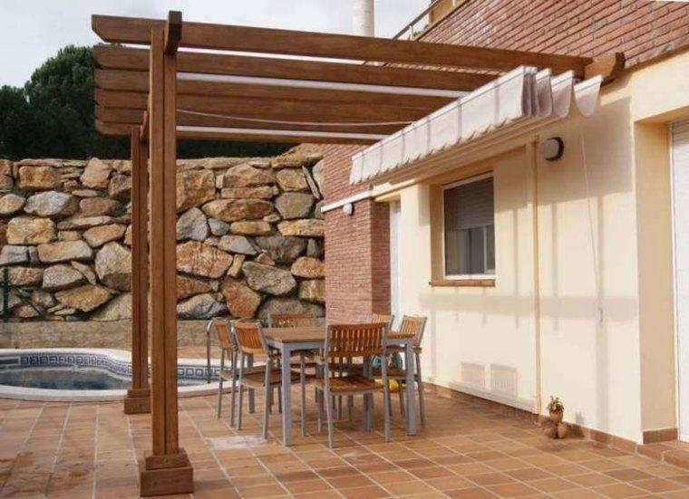 Porches jardin y terrazas cubiertas 50 dise os for Porche jardin madera