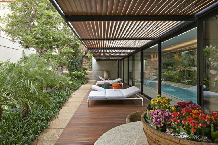 Porches jardin y terrazas cubiertas 50 dise os - Diseno de terraza ...