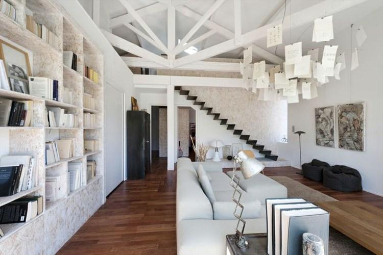 estupendo salon moderno blanco