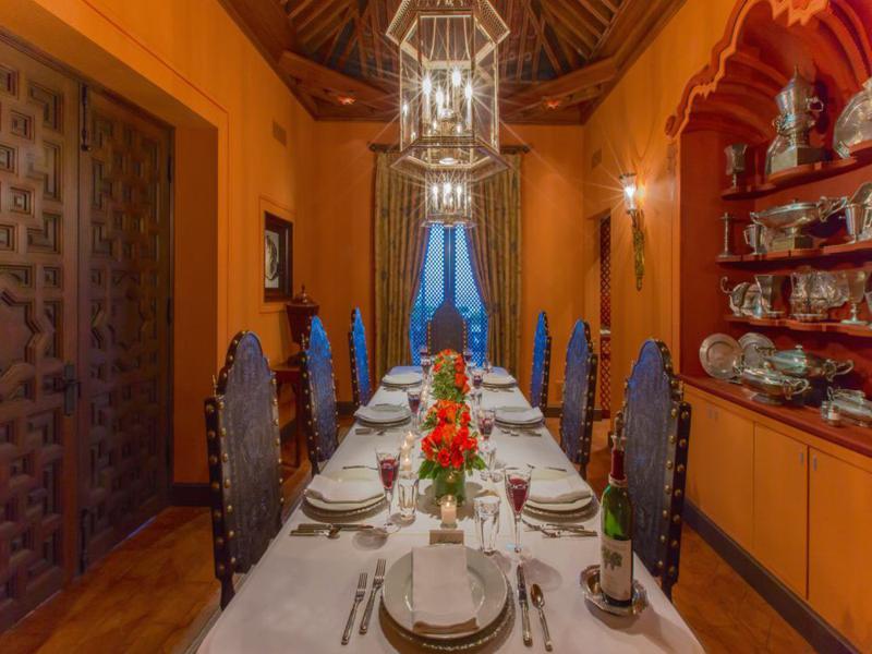 estupendo diseño salón comedor rústico