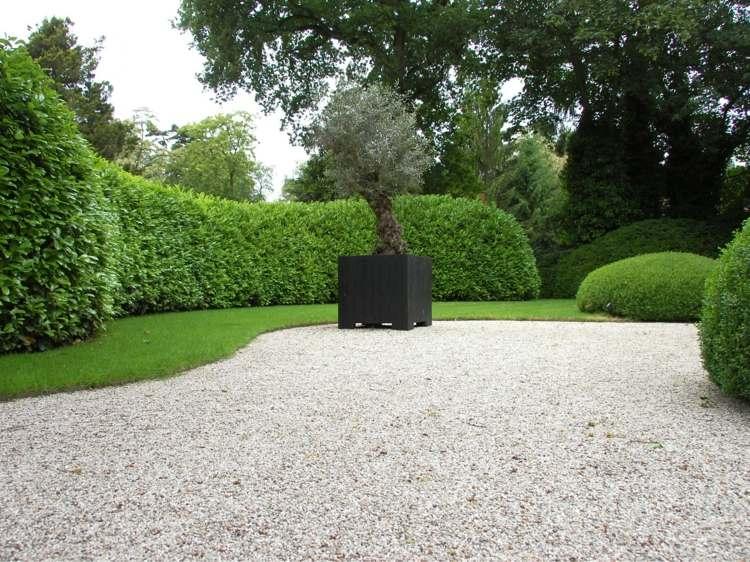 estupendo jardín suelo piedras