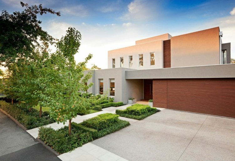 casa moderna diseño jardín