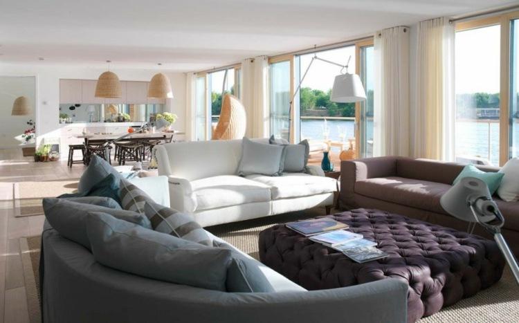 Decoraci n de salones modernos muebles y accesorios - Muebles de salita de estar ...