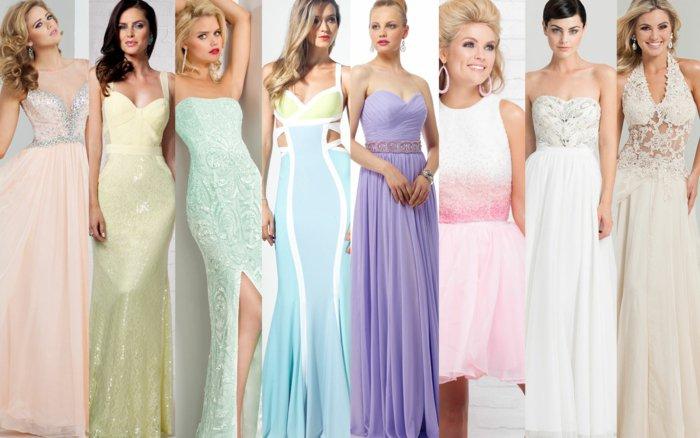vestidos largos colores pastel