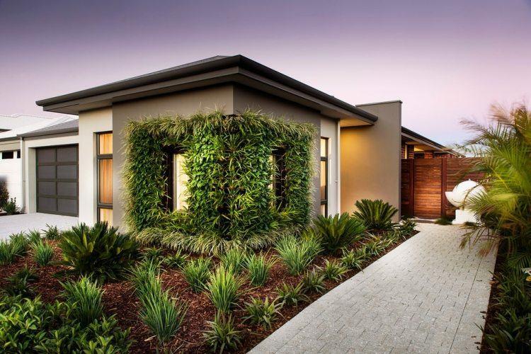 fachada jardin vertical moderno