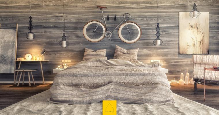 diseño dormitorio moderno madera
