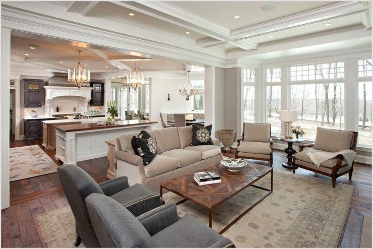Fotos de cocinas americanas dise os para aprovechar el for Living room with 10 foot ceiling