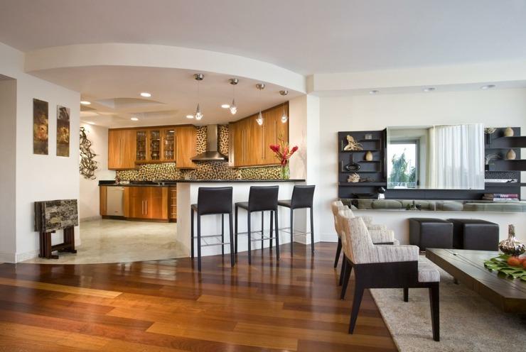 Fotos de cocinas americanas dise os para aprovechar el for Imagenes de muebles de cocina americanas
