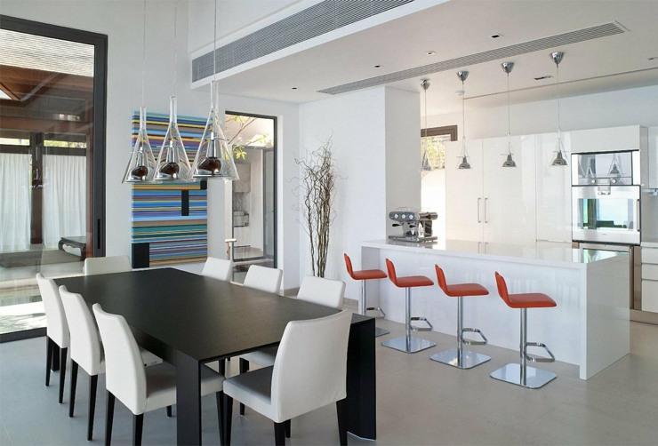 fotos de cocinas americanas salones sillas luminosa