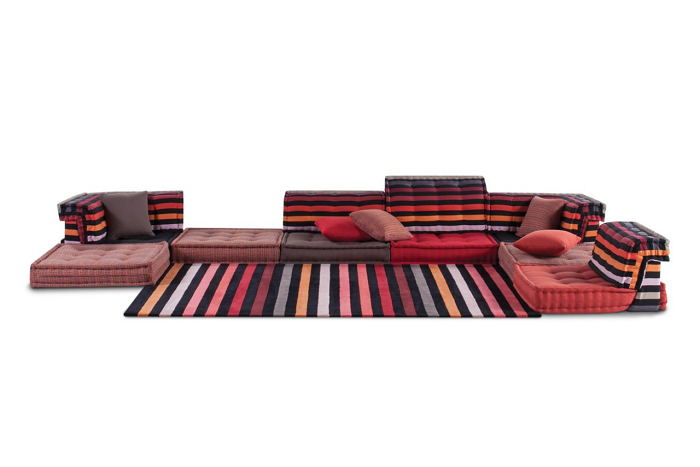 frontal alfombras rayas sitios vistas