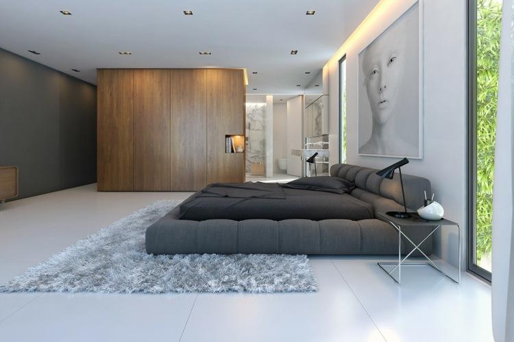grises paredes salas metales armarios