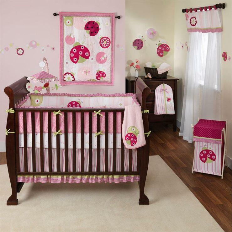 habitacion bebe nia y acentos en rosa - Habitacion Bebe Nia