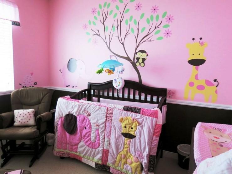 Habitacion bebe niña y creatividad en 50 variantes de diseño. -