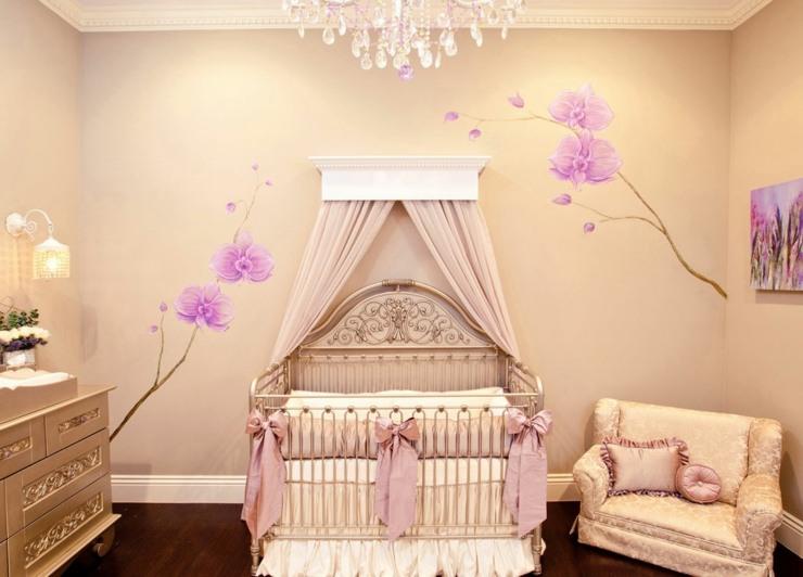Habitacion bebe ni a y creatividad en 50 variantes de - Ideas para decorar habitacion bebe nina ...