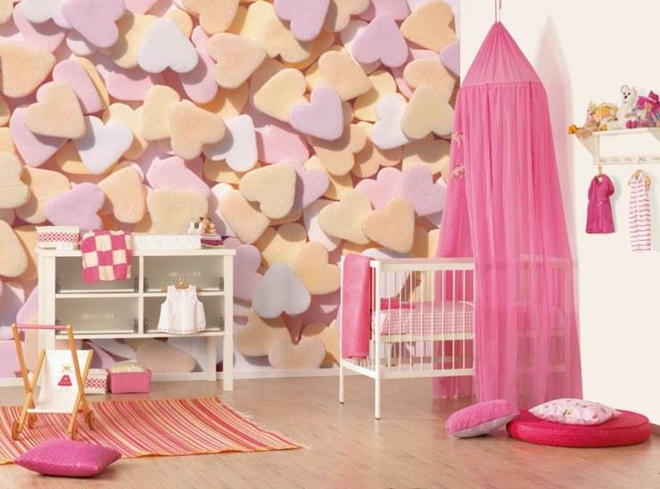 habitacion bebe niña cortinas definiciones rayas
