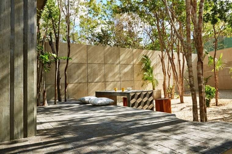 hogar diseno mexico jardin trasero mesa ideas