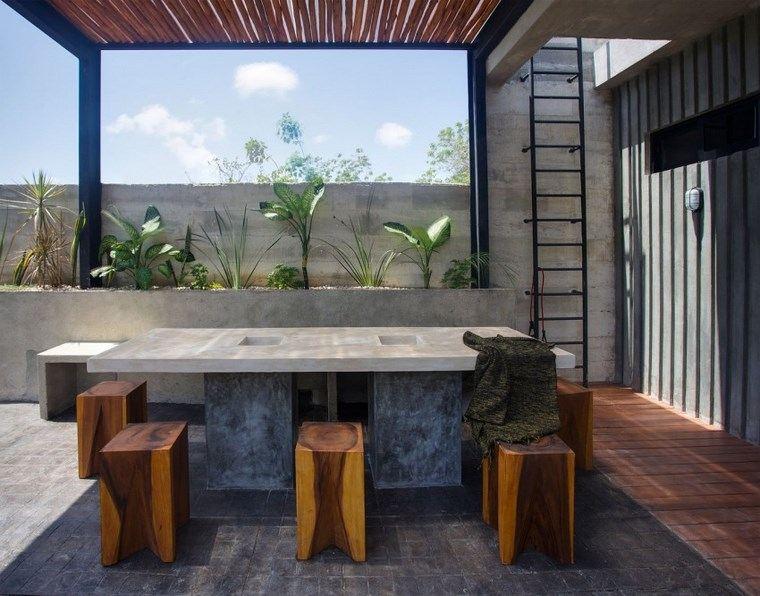 diseno mexico terraza pergola mesa ideas