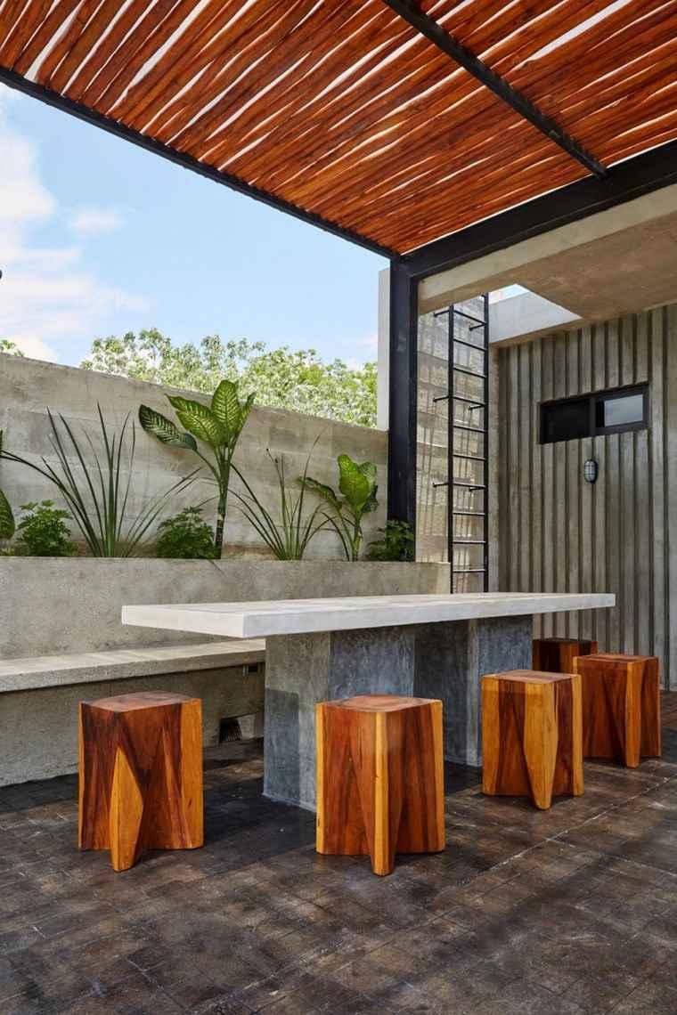 hogar diseno mexico terraza pergola ideas