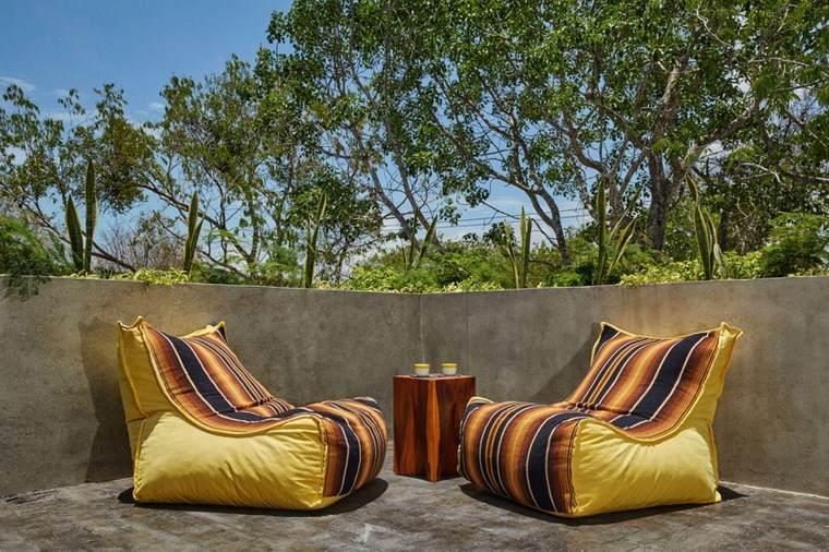 hogar diseno mexico terraza sillones amarillos comodos ideas
