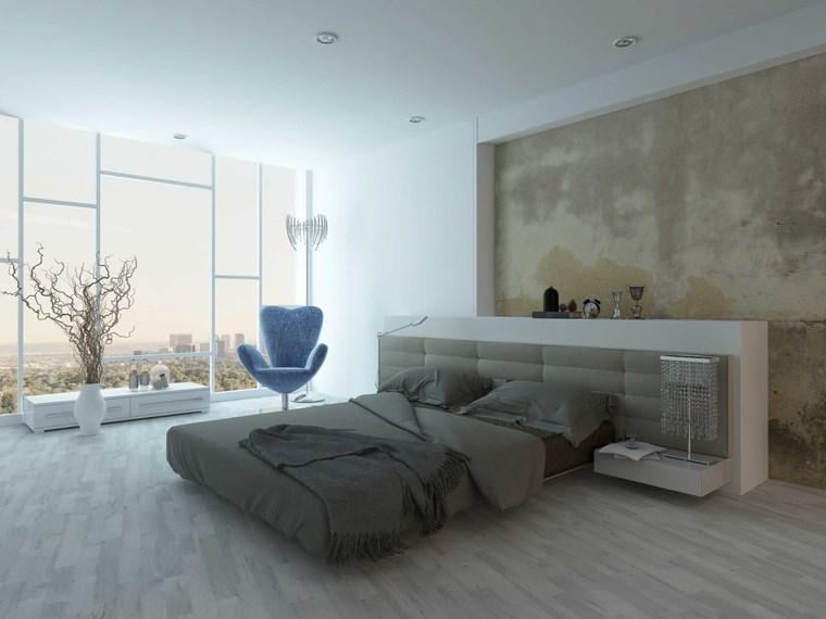 hormigon armado dormitorio muebles blancos ideas