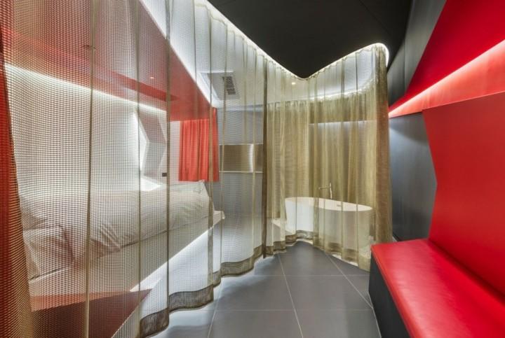 hotel diseño color centrados grises