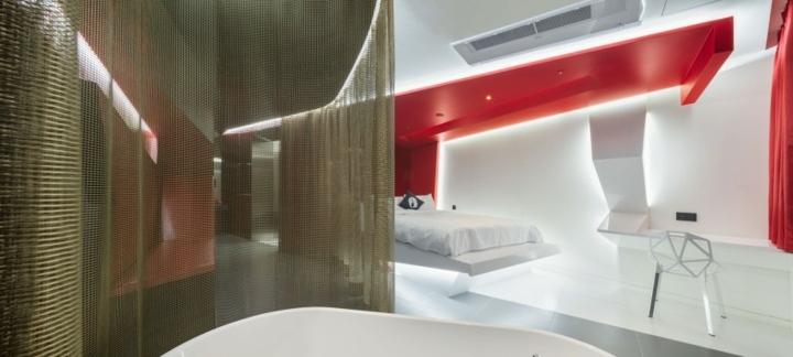 hotel diseño detalles sabanas colores redes