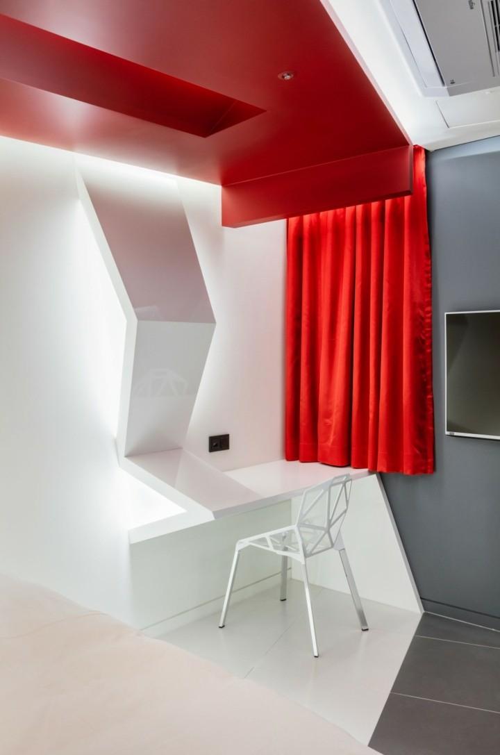 hotel diseño ventanas sillas verdes