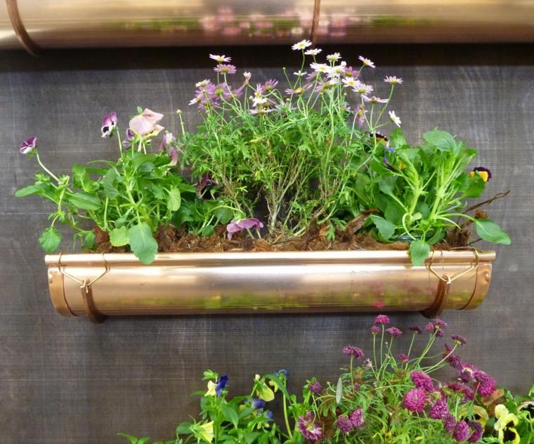 Jardineras verticales ideas sencillas para colgar plantas for Ideas para colgar macetas
