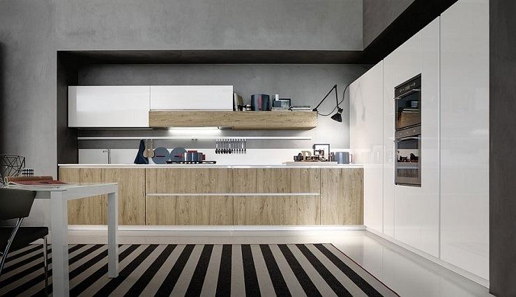imagenes cocinas modernas estilos variados alfombras rayas