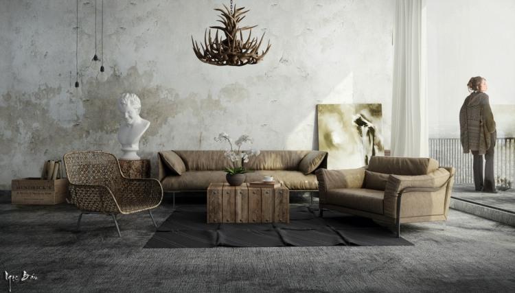 oriiginales muebles salon industrial