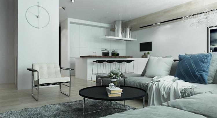 iluminacion colores negro blancos muebles