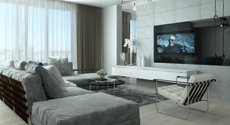 iluminacion colores sala estar muebles