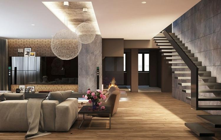 iluminacion diseño salones alfombras escalones escalera