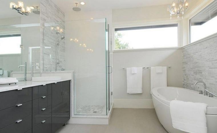 imagenes banos modernos amplio lavabo negro ideas