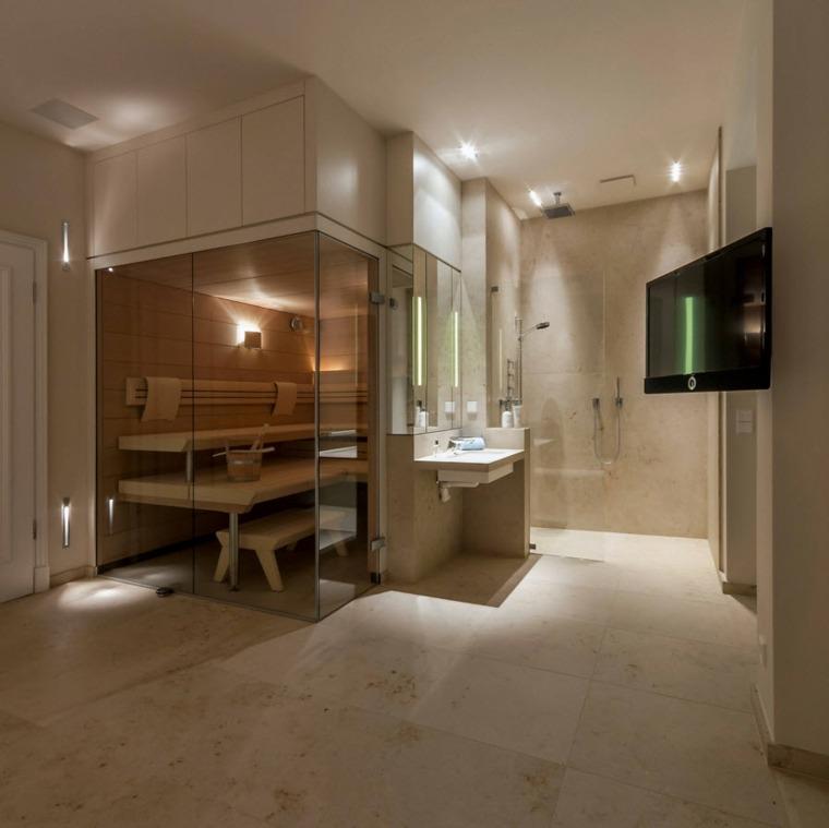 imagenes banos modernos amplio sauna ideas