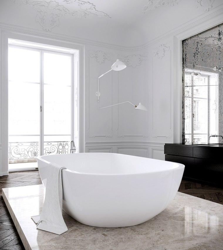imagenes banos modernos base marmol banera ideas