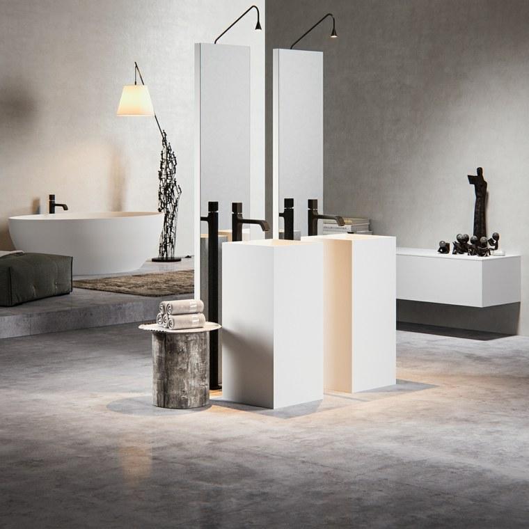 imagenes banos modernos dos lavabos modernos blancos ideas