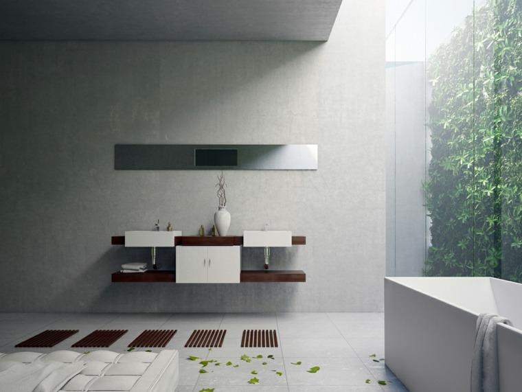 imagenes banos modernos jardin vertical ideas