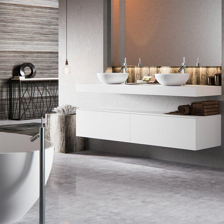 imagenes banos modernos lavabo blanco ideas