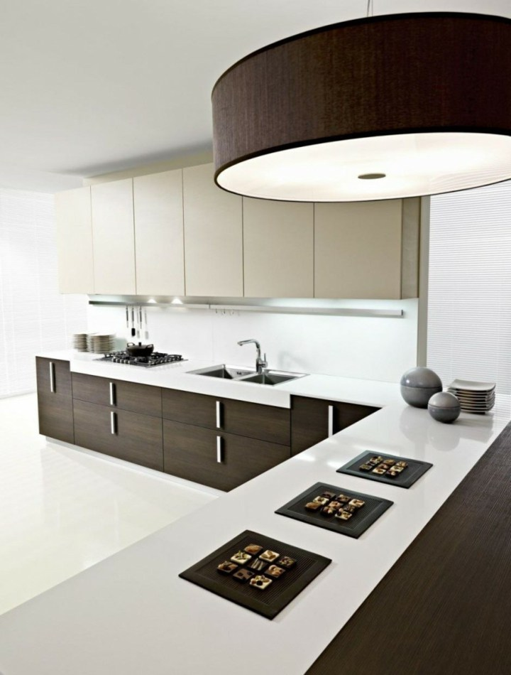 imagenes cocinas modernas fundamentales lamparas colores