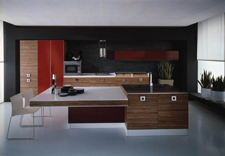 imagenes cocinas modernas fundamentales plantas rojo